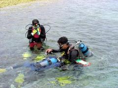 体験ダイビング1